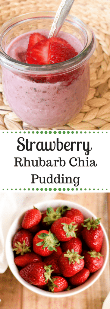 Strawberry Rhubarb Chia Pudding | Paleo | Vegan | Clean-Eating