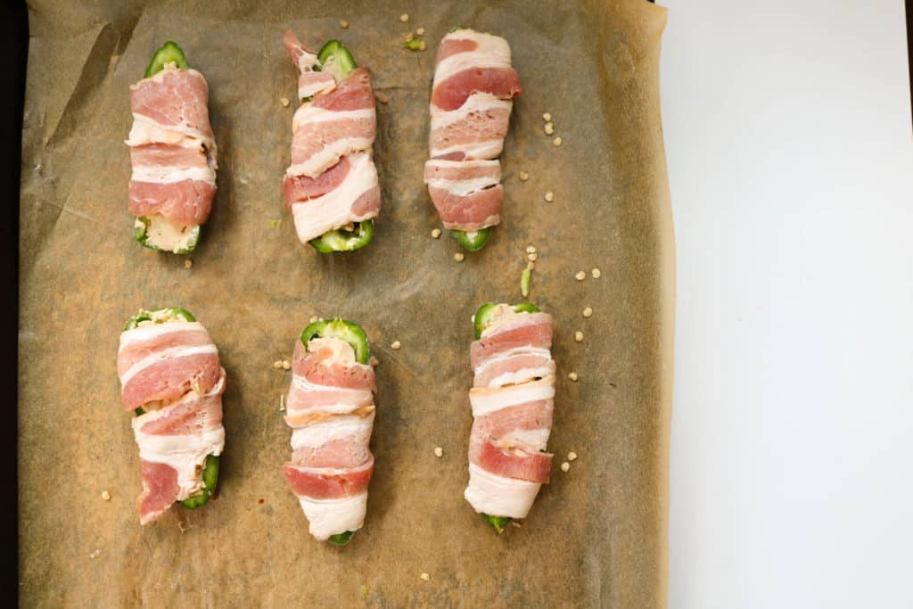 Cashew Cheese Stuffed Jalapeno Peppers with Bacon - Whole30 + Paleo