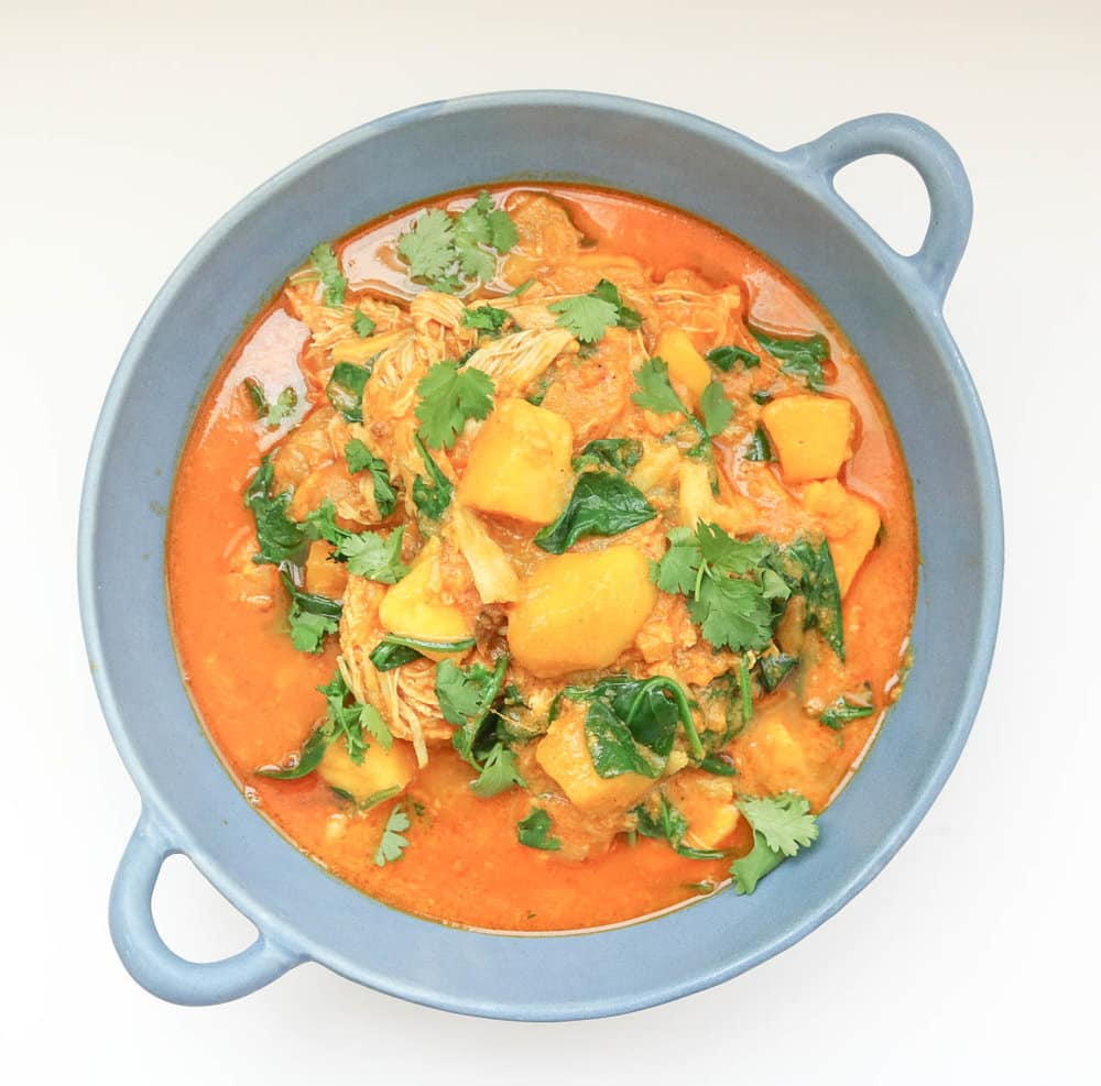 Mango chicken curry instant pot slow cooker recipe mango chicken curry whole30 paleo recipe forumfinder Images